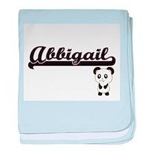 Abbigail Classic Retro Name Design wi baby blanket