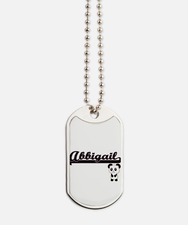 Abbigail Classic Retro Name Design with P Dog Tags