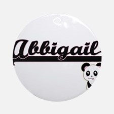 Abbigail Classic Retro Name Desig Ornament (Round)