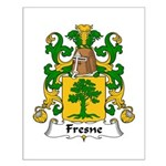 Fresne Family Crest Small Poster