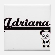 Adriana Classic Retro Name Design wit Tile Coaster