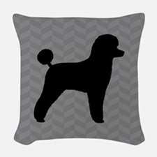 Toy Poodle Silhouette Woven Throw Pillow