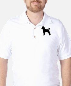 Toy Poodle Silhouette Golf Shirt