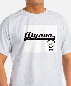 Aiyana Classic Retro Name Design with Pand T-Shirt