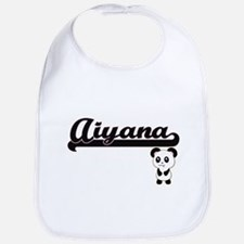 Aiyana Classic Retro Name Design with Panda Bib