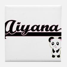 Aiyana Classic Retro Name Design with Tile Coaster