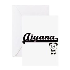 Aiyana Classic Retro Name Design wi Greeting Cards