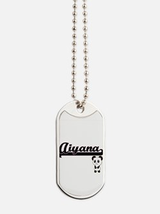 Aiyana Classic Retro Name Design with Pan Dog Tags