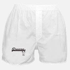 Aiyana Classic Retro Name Design with Boxer Shorts