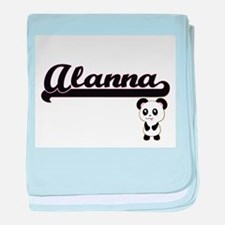Alanna Classic Retro Name Design with baby blanket