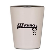 Alanna Classic Retro Name Design with P Shot Glass