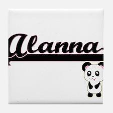 Alanna Classic Retro Name Design with Tile Coaster