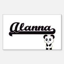 Alanna Classic Retro Name Design with Pand Decal