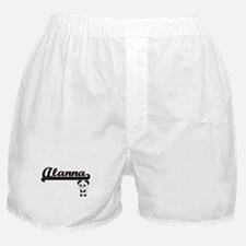 Alanna Classic Retro Name Design with Boxer Shorts