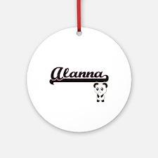 Alanna Classic Retro Name Design Ornament (Round)