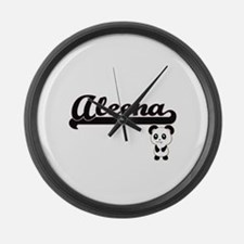 Aleena Classic Retro Name Design Large Wall Clock