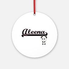 Aleena Classic Retro Name Design Ornament (Round)