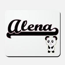 Alena Classic Retro Name Design with Pan Mousepad