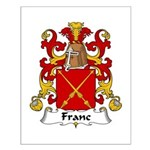 Franc Family Crest  Small Poster