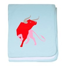 Bull baby blanket