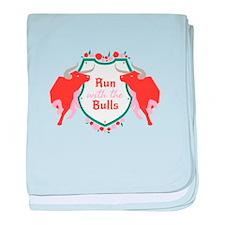 Run with the Bulls Shield Sigil baby blanket