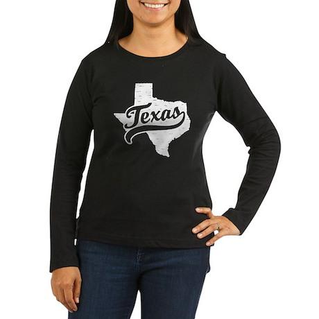 Texas Women's Long Sleeve Dark T-Shirt