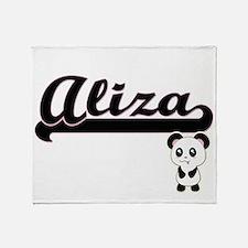 Aliza Classic Retro Name Design with Throw Blanket