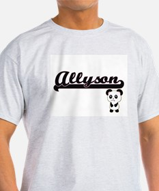 Allyson Classic Retro Name Design with Pan T-Shirt