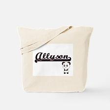 Allyson Classic Retro Name Design with Pa Tote Bag