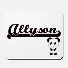 Allyson Classic Retro Name Design with P Mousepad