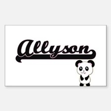 Allyson Classic Retro Name Design with Pan Decal