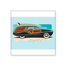 "Cute Hang ten Square Sticker 3"" x 3"""