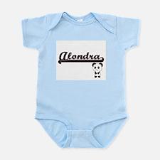 Alondra Classic Retro Name Design with P Body Suit