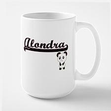 Alondra Classic Retro Name Design with Panda Mugs
