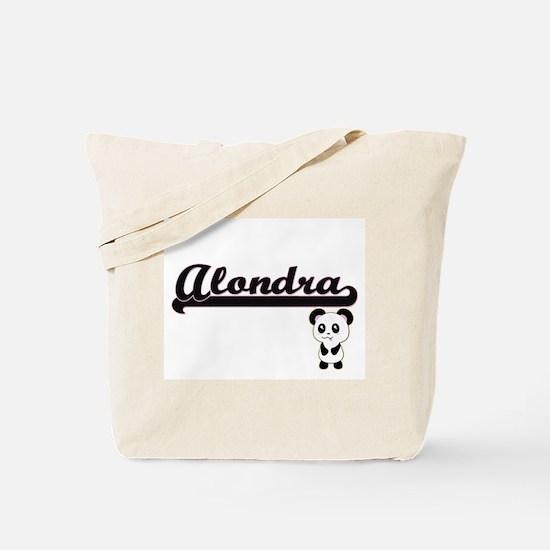 Alondra Classic Retro Name Design with Pa Tote Bag