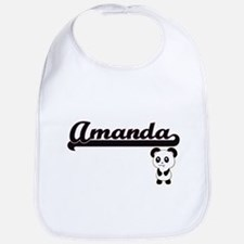 Amanda Classic Retro Name Design with Panda Bib