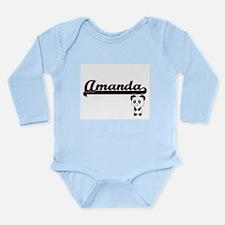 Amanda Classic Retro Name Design with Pa Body Suit
