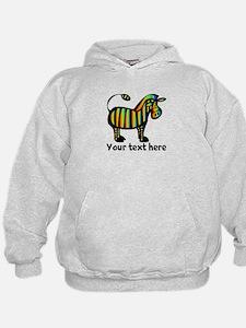 Personalize, Rainbow Zebra Hoodie