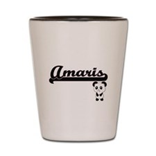 Amaris Classic Retro Name Design with P Shot Glass