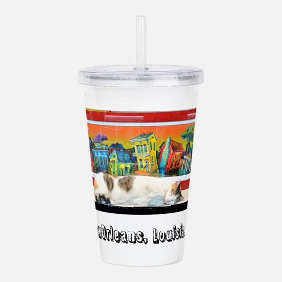 New Orleans Cat Acrylic Double-wall Tumbler