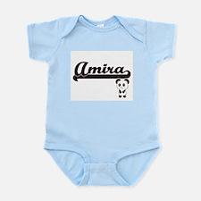 Amira Classic Retro Name Design with Pan Body Suit