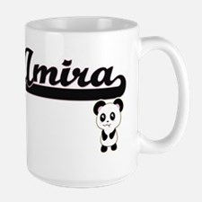 Amira Classic Retro Name Design with Panda Mugs