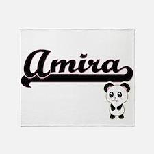 Amira Classic Retro Name Design with Throw Blanket