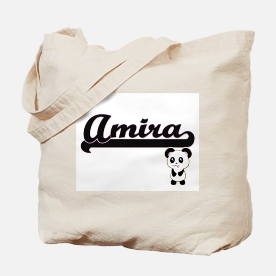 Amira Classic Retro Name Design with Pand Tote Bag