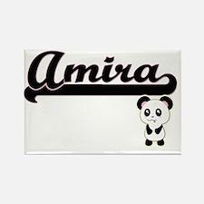 Amira Classic Retro Name Design with Panda Magnets