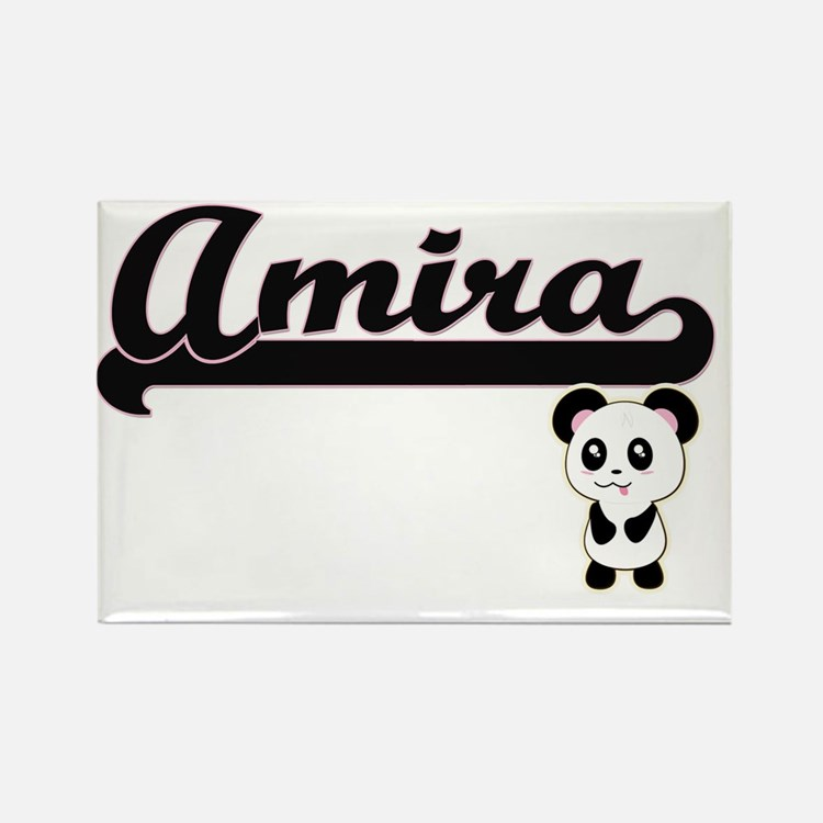 Amira Classic Retro Name Design with Panda Magnets