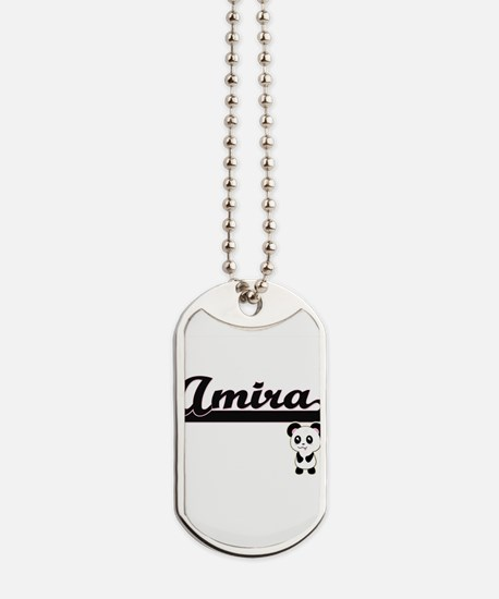 Amira Classic Retro Name Design with Pand Dog Tags
