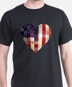American quilted heart T-Shirt