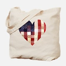 American quilted heart Tote Bag
