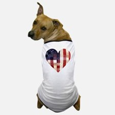 American quilted heart Dog T-Shirt